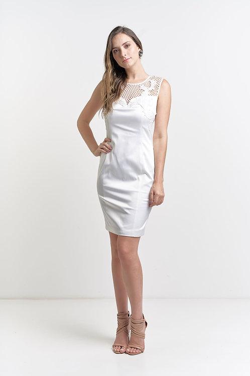 Vestido curto importado liso com renda 02 cores
