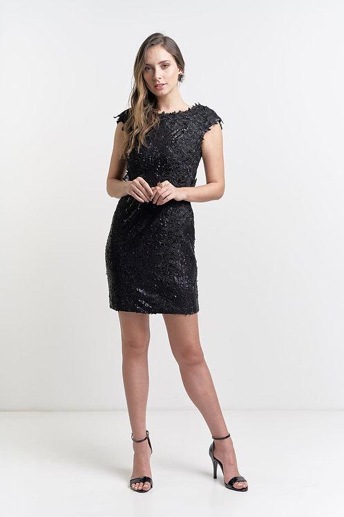Vestido tubinho curto modelo importado paetê 02 cores
