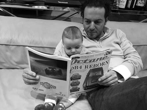 My co-founding partner Nicholas with his baby son, leading him into our hobby! 🙏
