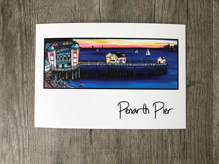 Penarth Pier Greeting card