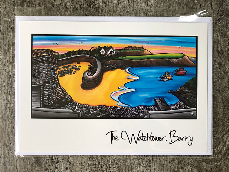 The Watchtower, Barry greeting card