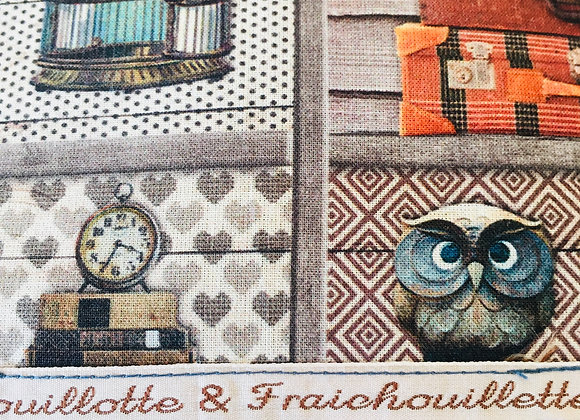 """Bouillotte & Fraichouillette """"Classique"""" Rétro Chouette"""