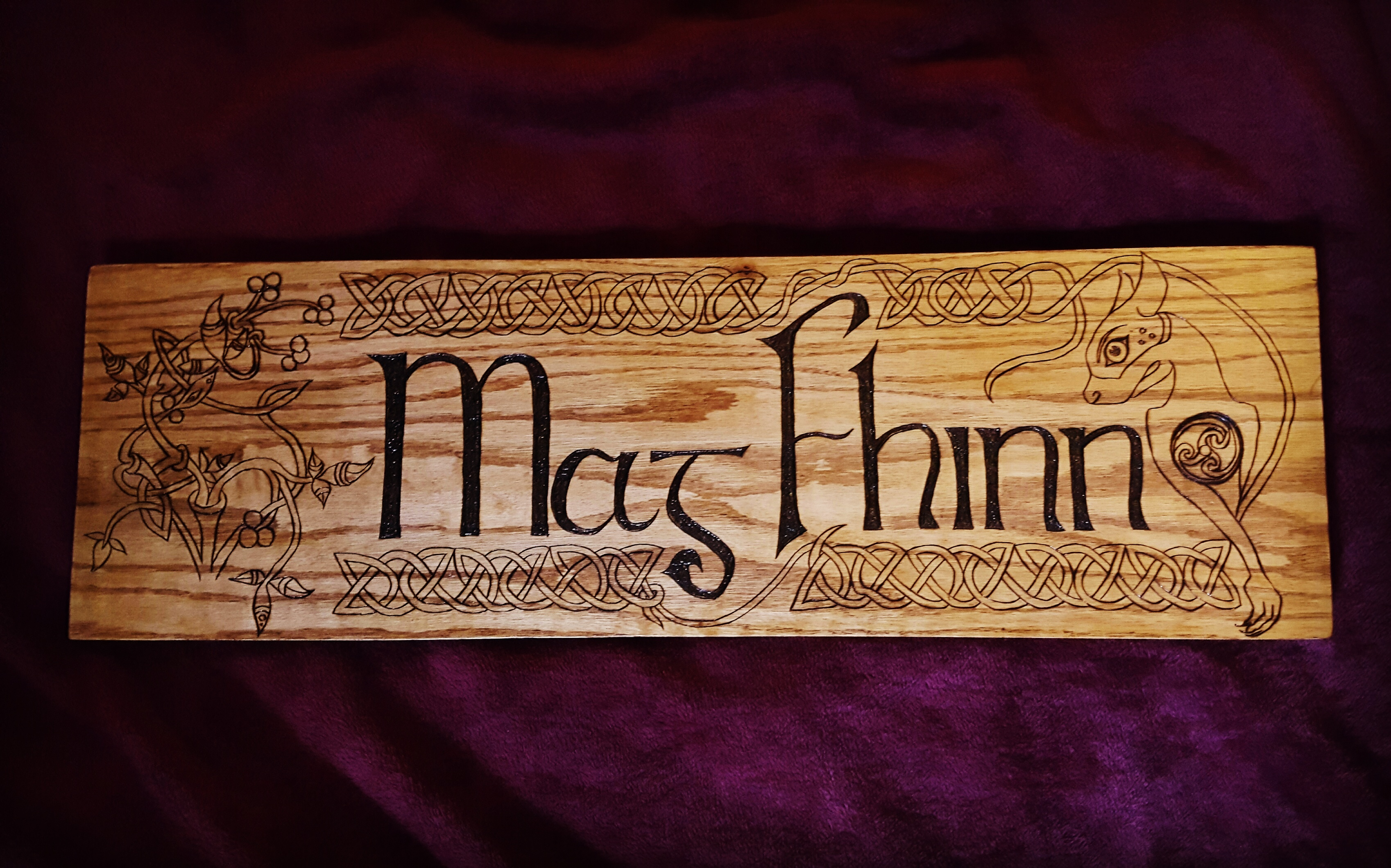 mag fhinn wedding name plaque