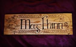 mag fhinn wedding name plaque