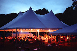 Catering in a field for 200