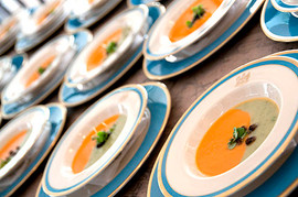 chilled carrot and avocado soups