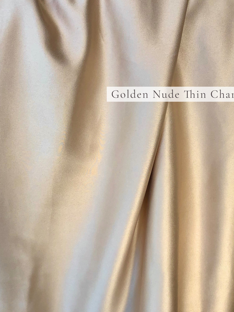 Golden Nude Thin Charmeuse