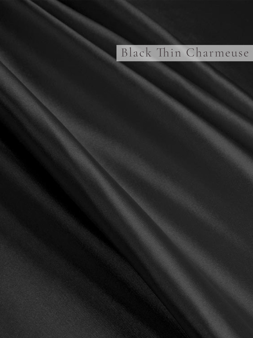 Black Thin Charmeuse