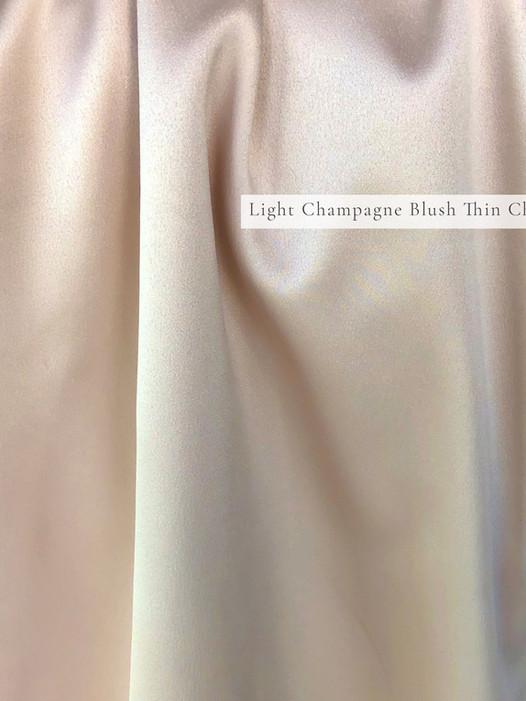 Light Champagne Blush Thin Charmeuse