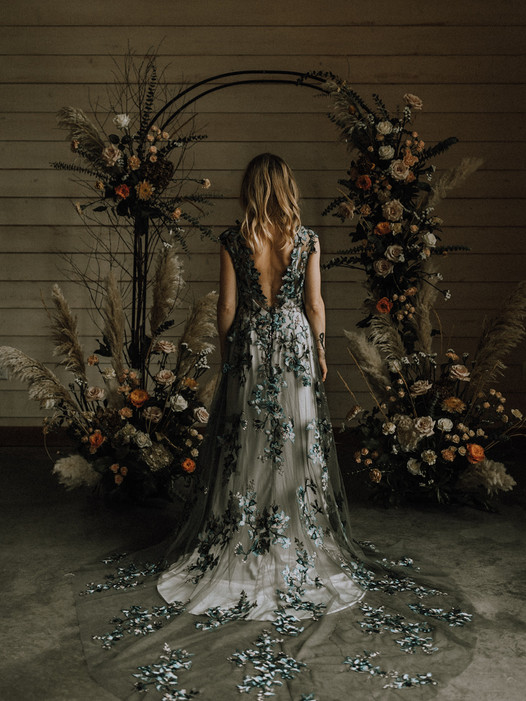 Midnight Primrose Wedding Dress