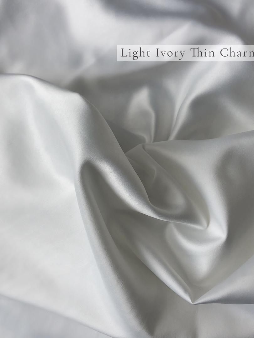 Light Ivory Thin Charmeuse