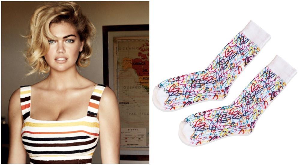 Kate Upton James Goldcrown Related Garments Bleeding wall socks