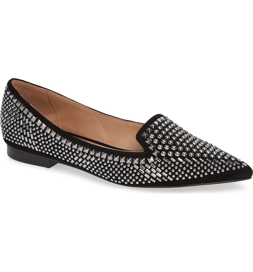 Linea Paolo Studded Loafer Embellished Point Toe