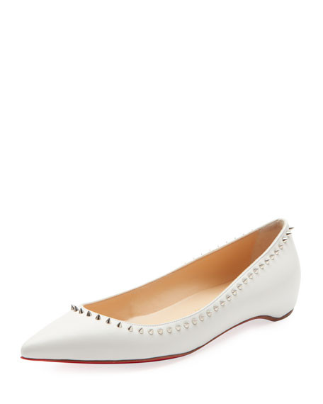 Point Toe Embellished Flats with Studs Christian Louboutin