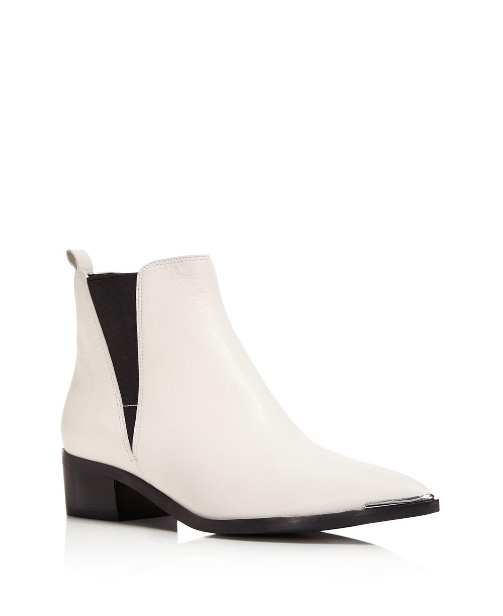 Marc Fischer Chelsea Boot Point Toe White