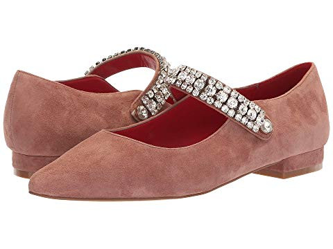 Kurt Geiger Embellished Mary Jane Point Toe Flats
