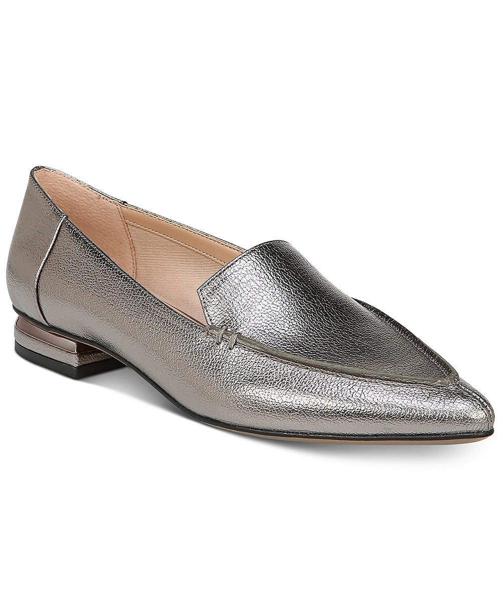 Franco Sarto Point Toe Loafer Metallic