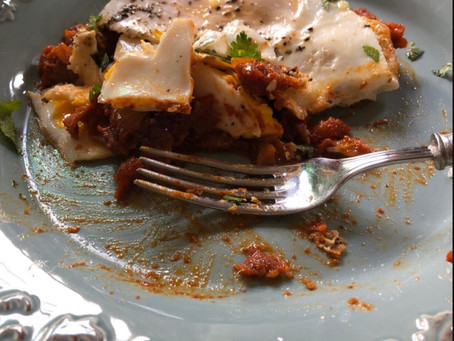 "Quarantine in the Kitchen: A Recipe for Gut-Friendly ""French Chilaquiles"""