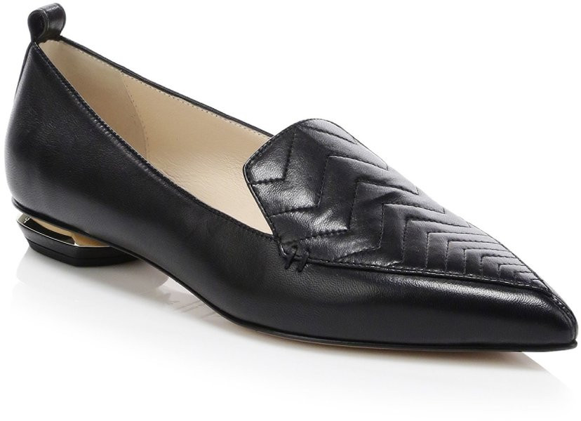 Nicholas Kirkwood Zig Zag Point Toe Leather Loafer