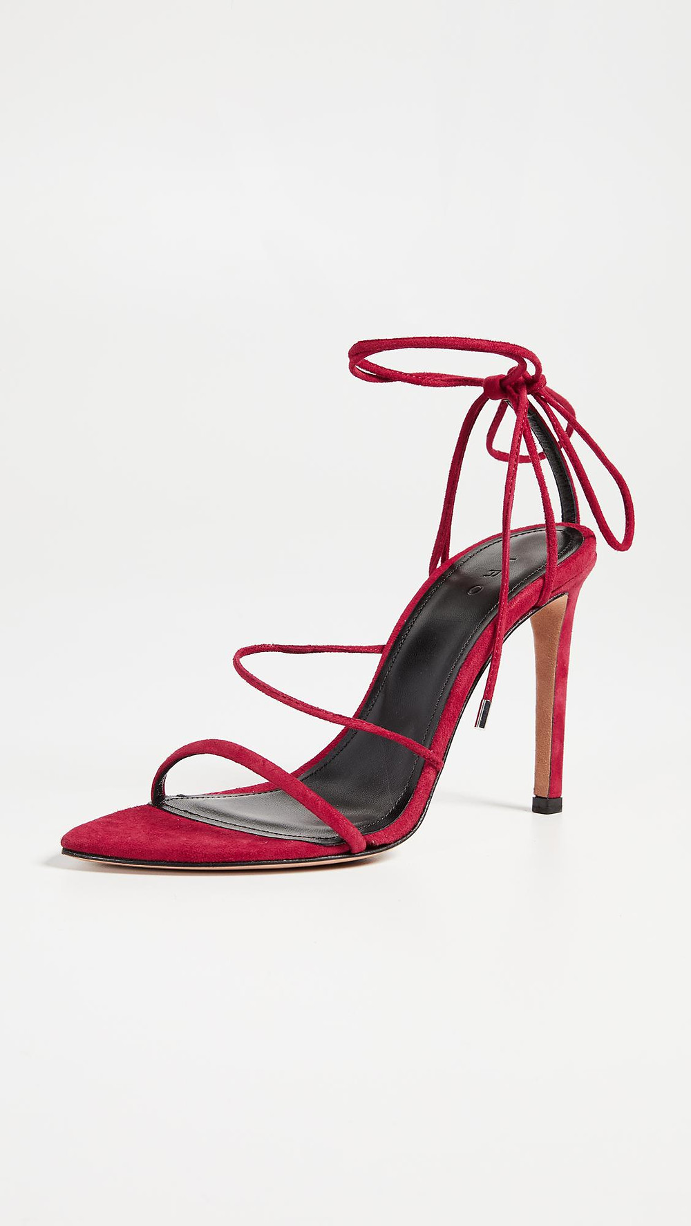 Iro Suede Point Toe Stiletto Red Sandal