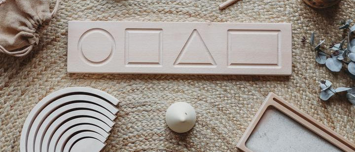 Wooden Shape Tracing Board