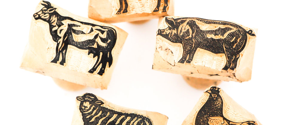 Dough Stamp Collection / Individual - Farmyard