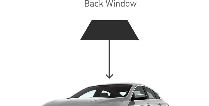 Rear Back Windows ( 4 Door Car Kits )