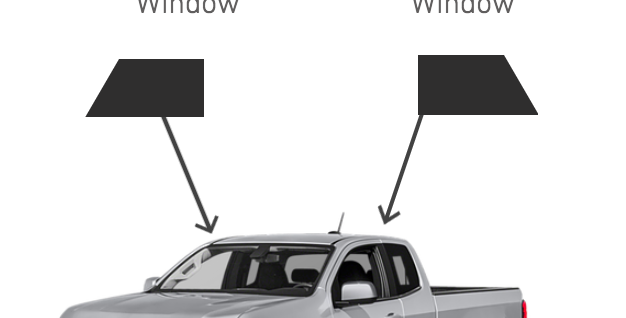 Front Roll-Ups Window ( Extended Cab Truck Kits )