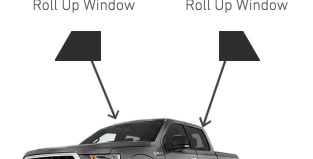 Rear Side Windows ( Crew Cub Truck Kits )