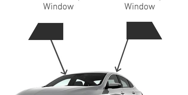 Front Roll-Ups Window ( 4 Door Car Kits )