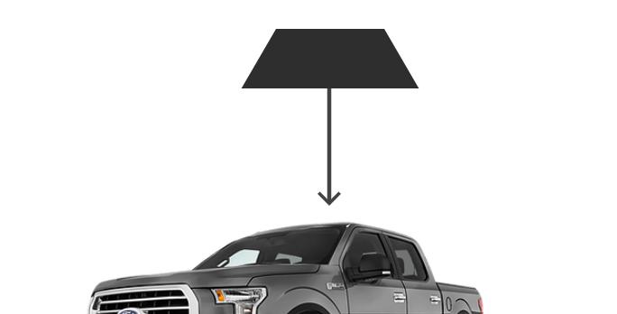 Rear Back Windows ( Crew Cub Truck Kits )