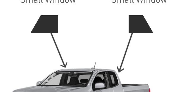 Rear Side Windows ( Extended Cab Truck Kits )