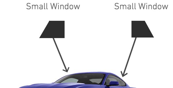 Rear Side Windows ( 2 Door Car Kits )