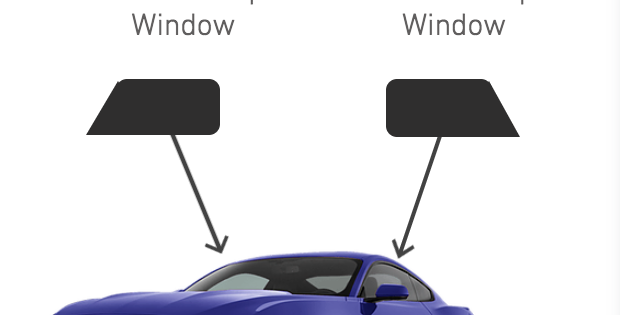 Front Roll-Ups Window ( 2 Door Car Kits )