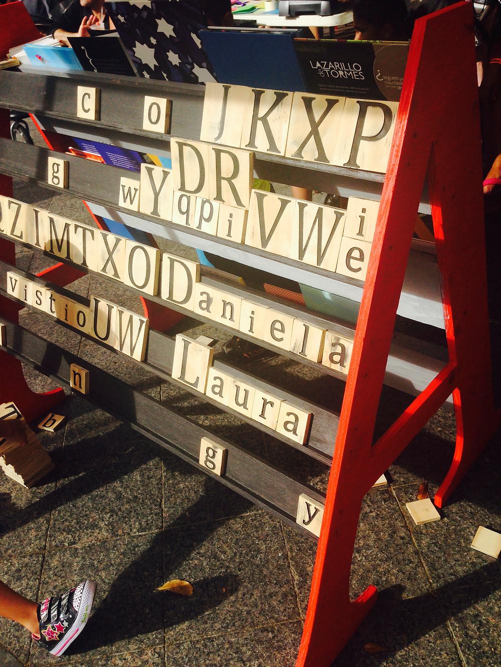 Paseo de las letras en San Juan