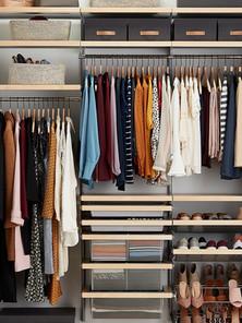 Elfa closet organization system
