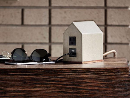 Portable Electric Outlets:  Look great, no bending down required!