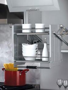 pull down kitchen shelf