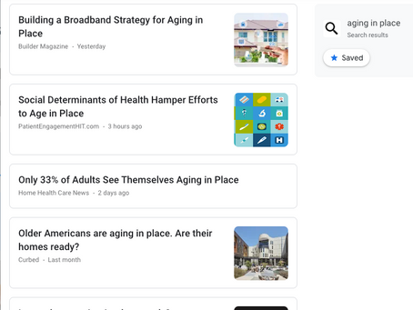 """Aging in Place"" In The News"