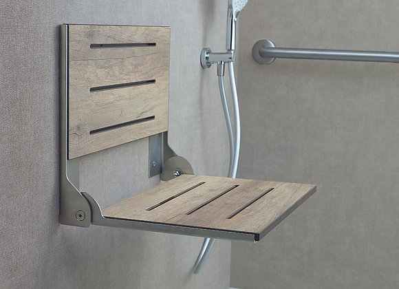 Bella Faux Weathered Teak Shower Seat