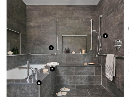 WSJ Features Gorgeous Bathroom for All Ages