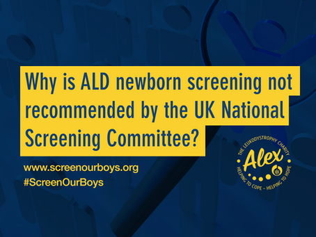 Why is ALD newborn screening not recommended by the UK National Screening Committee?