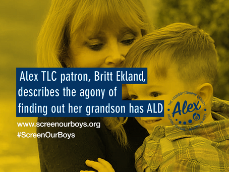 Alex TLC patron, Britt Ekland, describes the agony of finding out her grandson has ALD