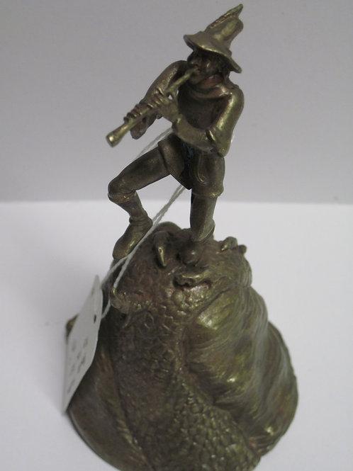 Cast figural bronze bell