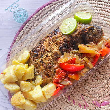 Grilled Fish and Irish Potato