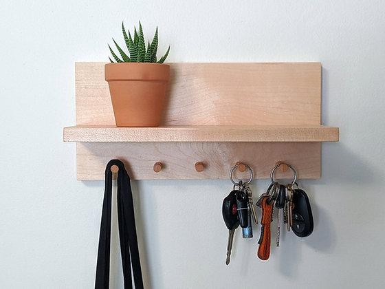 Maple Entry Shelf & Key Holder