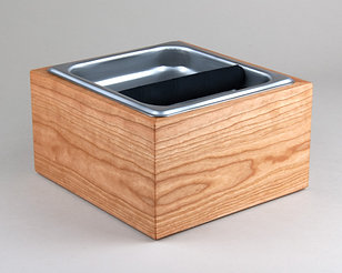 Cherry Espresso Knock Box Compost Bin