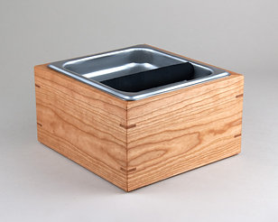 Cherry Espresso Knock Box Compost Bin