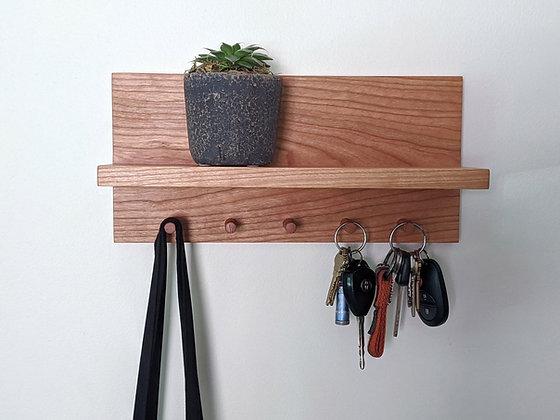Cherry Entry Shelf & Key Holder