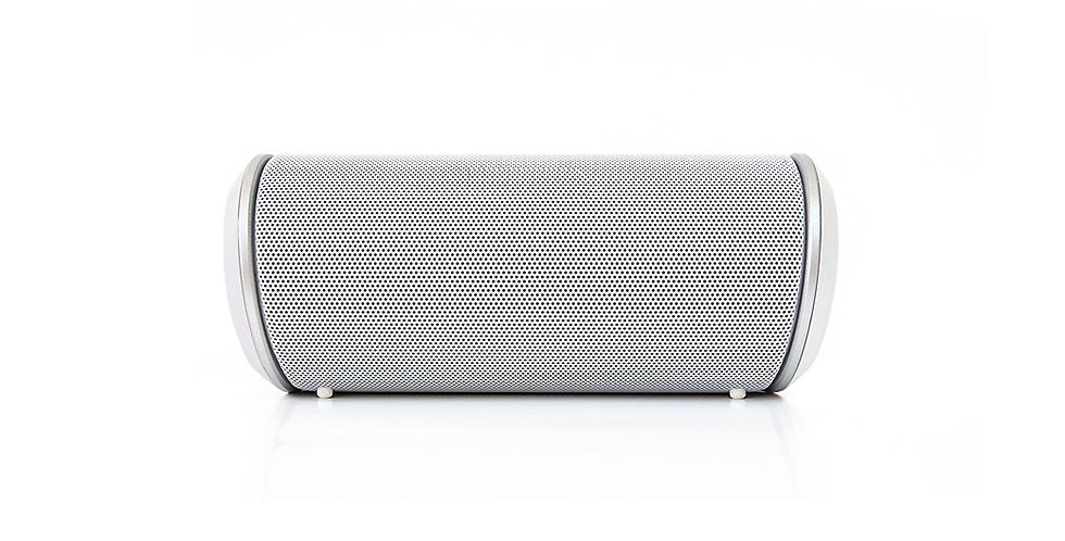 Pill Shape Silver Portable Bluetooth Speaker